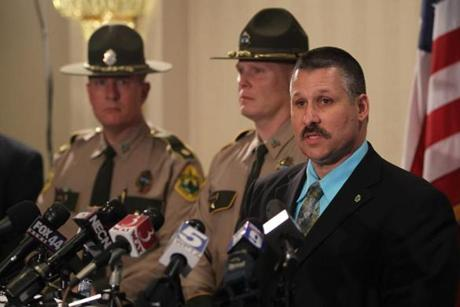 State Police Major Edward Ledo held a press conference announcing the arrests.